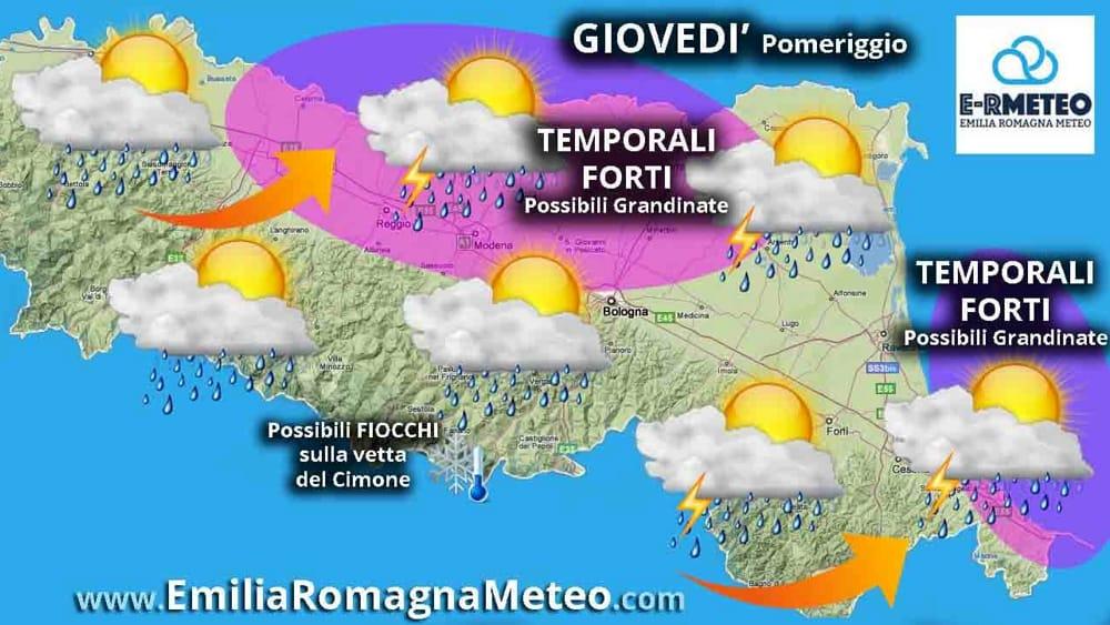 Tuoni e fulmini in arrivo possibili temporali nel - Previsioni bagno di romagna ...